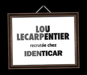Lou Lecarpentier recrutée chez Identicar