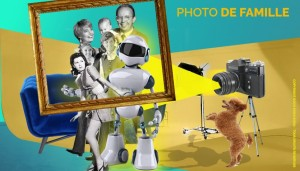 Photo de famille avec robot / couche-culotte / Mushroom / Cabinet de recrutement / Chasseurs de têtes