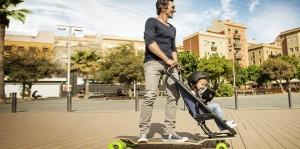 Image d'un père avec fils sur un Skate / Couche-culotte / Mushroom / Cabinet de recrutement / Chasseurs de têtes